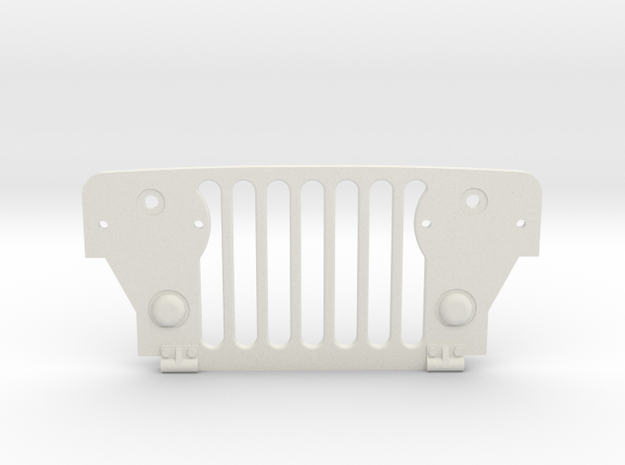 Tamiya Wild Willy M38 Grill in White Natural Versatile Plastic