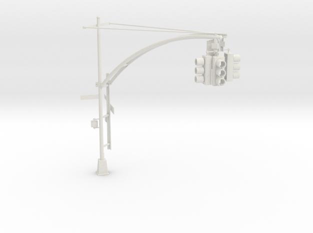 Traffic Light - New York City 1 in White Natural Versatile Plastic