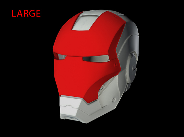 Iron Man Helmet - Face Shield (Large) 3 of 4 in White Strong & Flexible