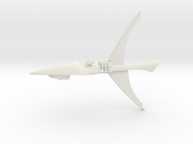 Eldar Craftworld - Concept Ship 3 in White Natural Versatile Plastic
