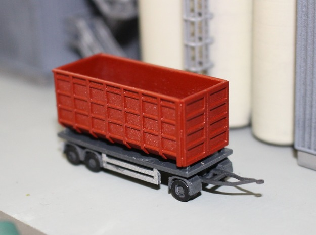 N 20ft Container Trailer 1 in Smooth Fine Detail Plastic
