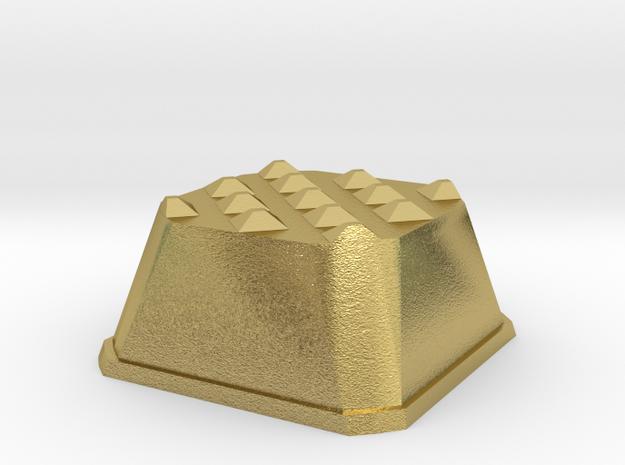 Truffle Shuffle 1a in Natural Brass