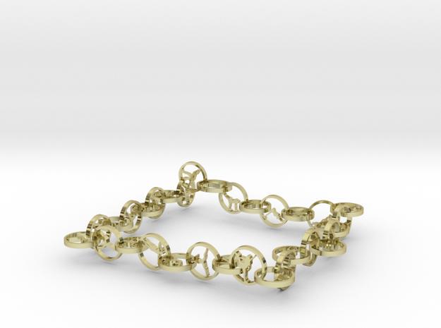 32 yoga pose bracelet in 18k Gold Plated Brass