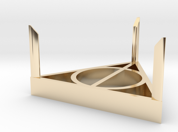 Ring Box Stand in 14k Gold Plated Brass