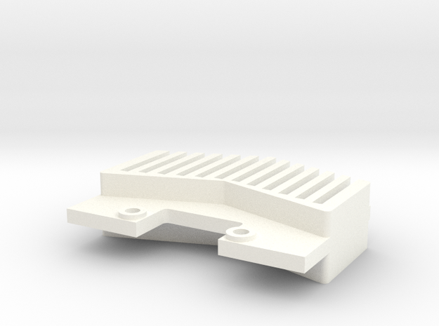 Tamiya Lunchbox Brunt Skid Plate in White Processed Versatile Plastic