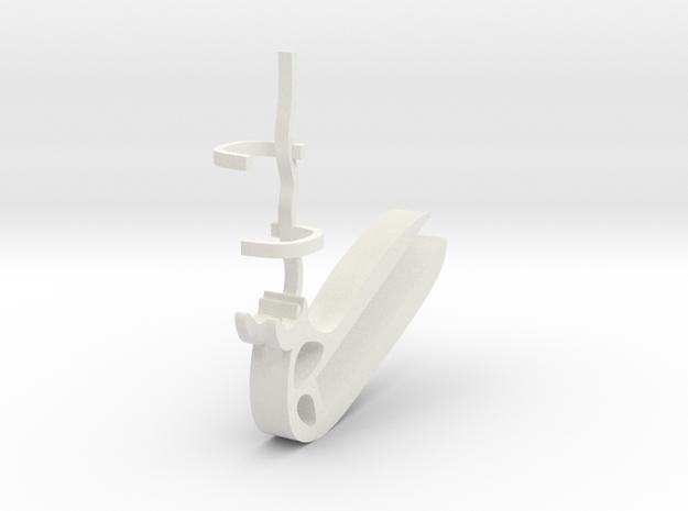 Halter für Diktafon Philips Voicepoint / Mount for in White Natural Versatile Plastic