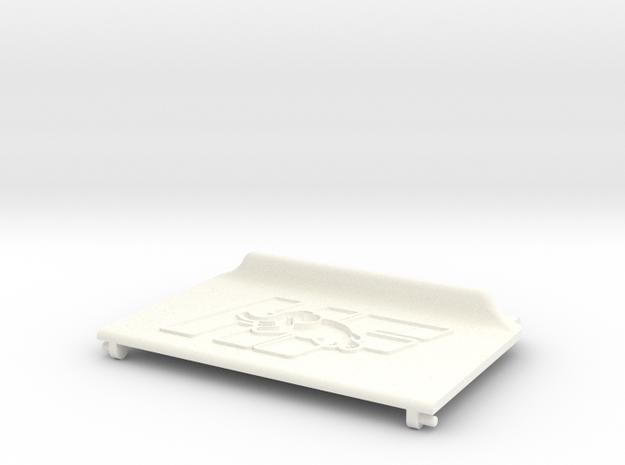 Lancia Delta Compartment Sunroof LID HF in White Processed Versatile Plastic