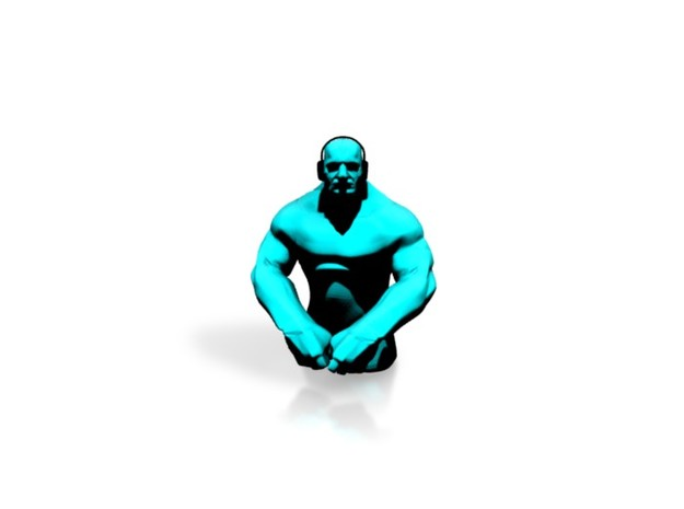 Small Grappler - Cyan 3d printed