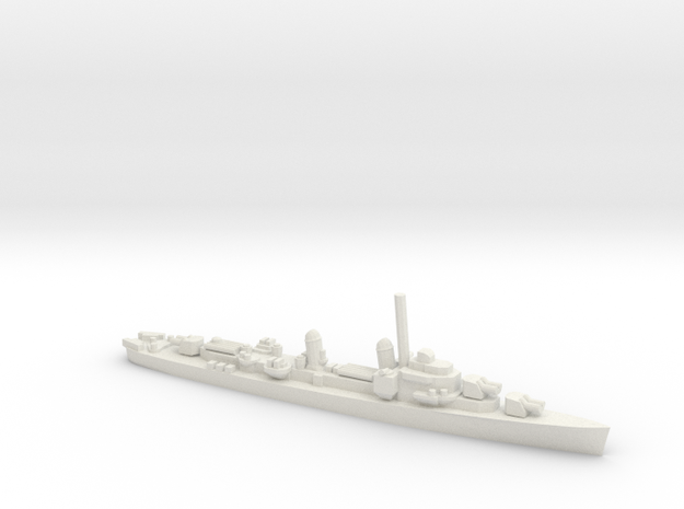 US Gearing-class Destroyer in White Natural Versatile Plastic
