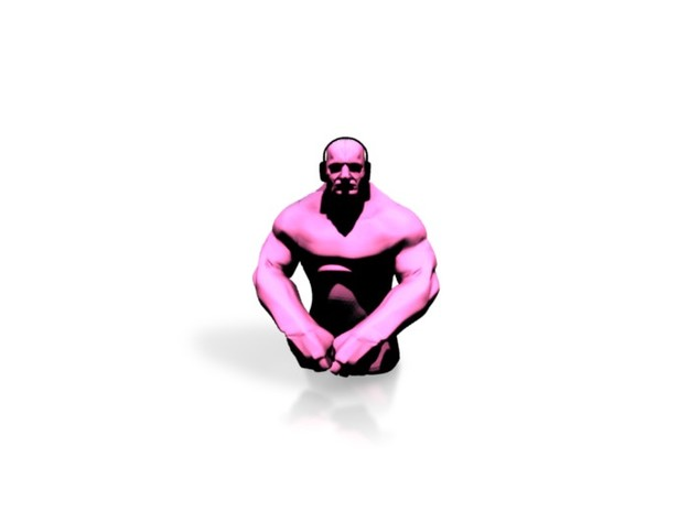 Small Grappler - Pink in White Natural Versatile Plastic