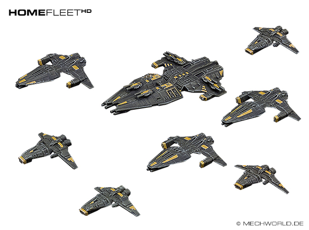 HOMEFLEET Fleet pack #01 in Smooth Fine Detail Plastic