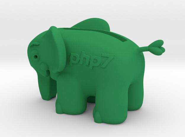 Elephant pigbank in Green Processed Versatile Plastic