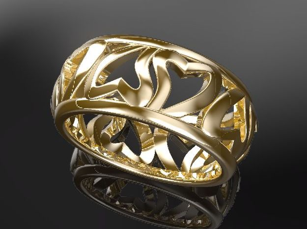 Heart of Eternity ring in 14K Yellow Gold