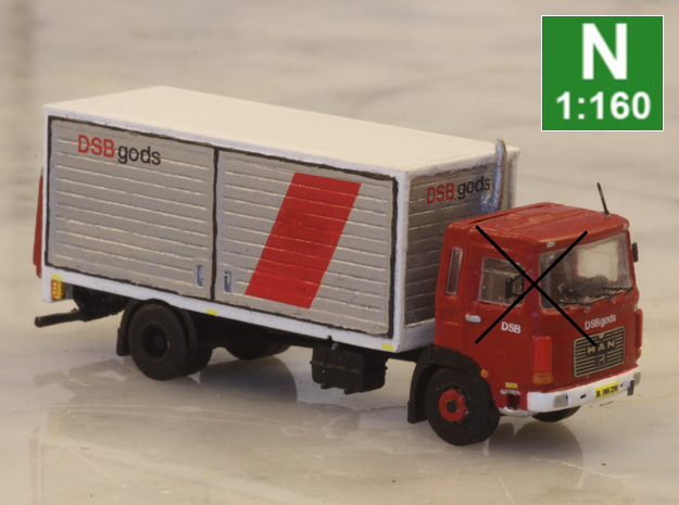 Kit for making a DSB truck from etchIT cap  in Smooth Fine Detail Plastic