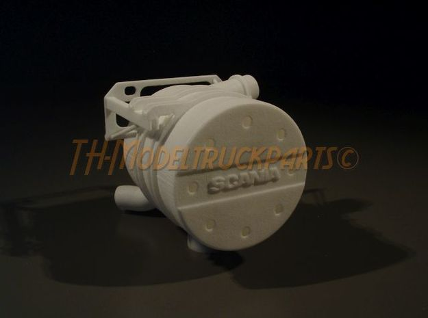 THM 00.4201 Tamiya Scania exhaust in White Processed Versatile Plastic