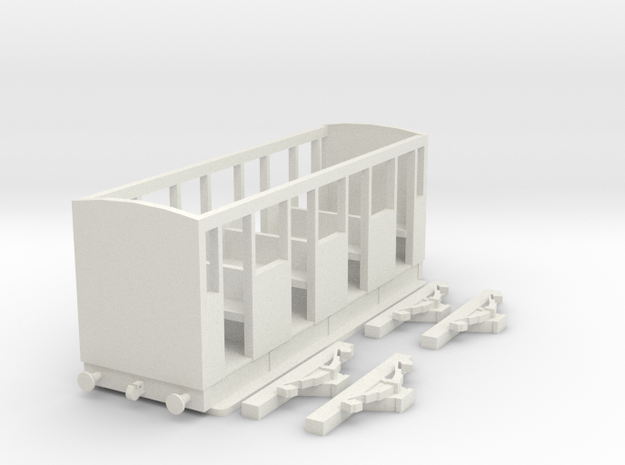 009 NG S4 Green Coach Body & Axleguards in White Natural Versatile Plastic