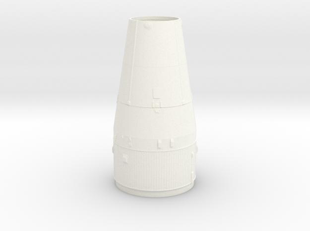 1:70 Saturn V LM shroud/S4B upper corrugations in White Processed Versatile Plastic