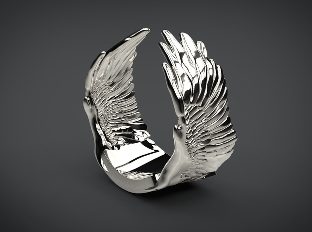 Wings Ring in Premium Silver