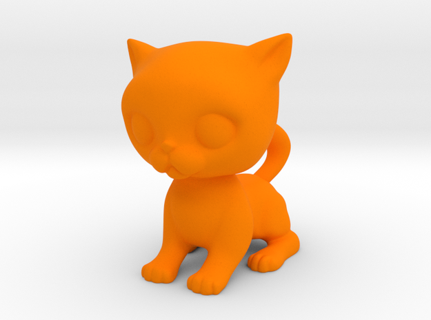 Cute Baby Cat in Orange Processed Versatile Plastic