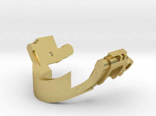 emitter glass-eye adapter in Natural Brass