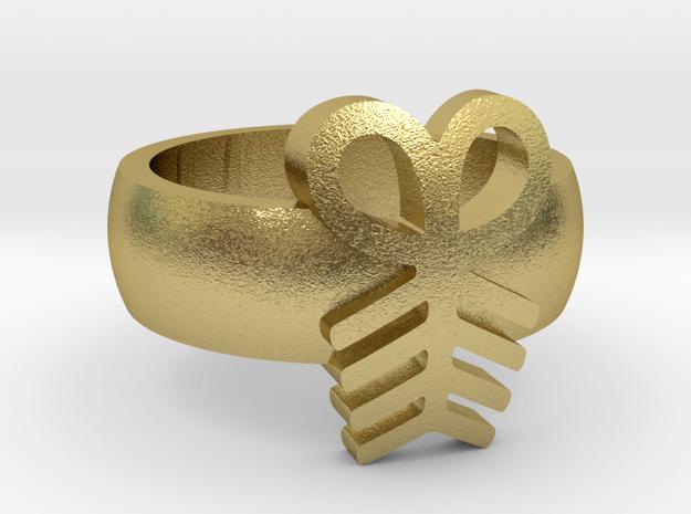 Adinkra Aya RingSize 6.5 in Natural Brass