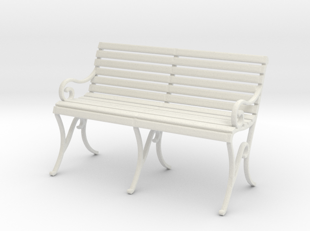 Period Park Bench in White Natural Versatile Plastic