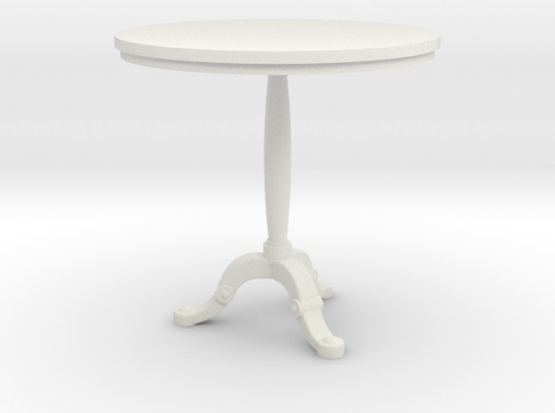 Pub Table in White Natural Versatile Plastic