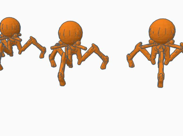 6mm Infantry Octopus Robots in White Natural Versatile Plastic