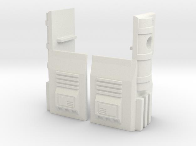 TF WFC Siege - Ultra Magnus G1 Thigh Accessories in White Natural Versatile Plastic