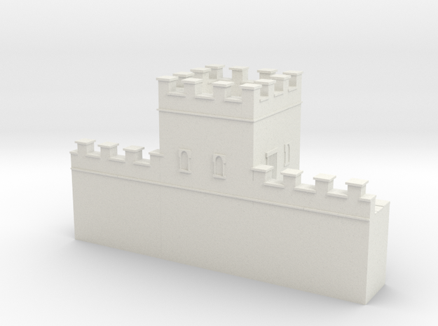 Hadrian's  wall 1/600 turret  in White Natural Versatile Plastic