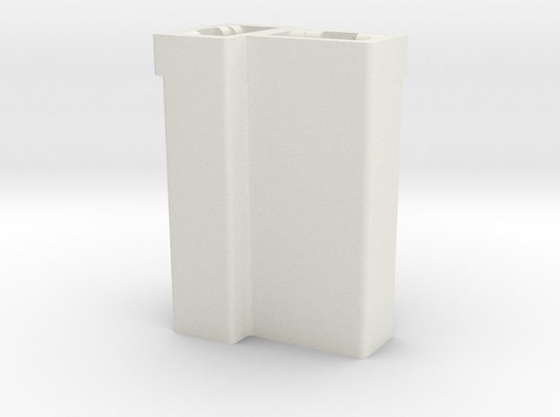 GM dual T connector housing  -female in White Natural Versatile Plastic