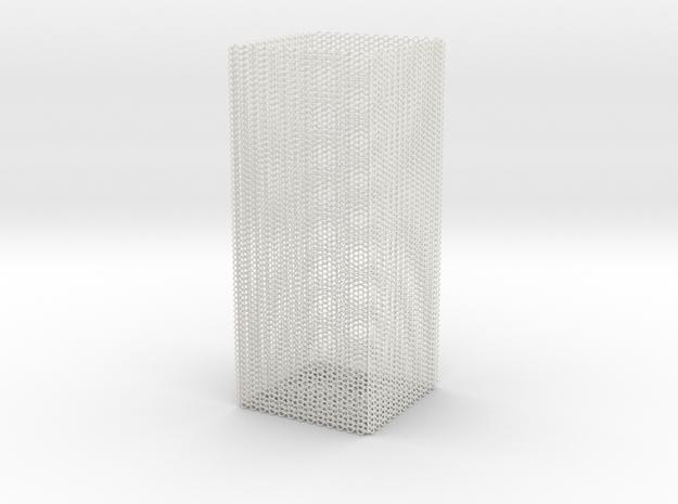 rock_vase_square_hexacore_export in White Natural Versatile Plastic