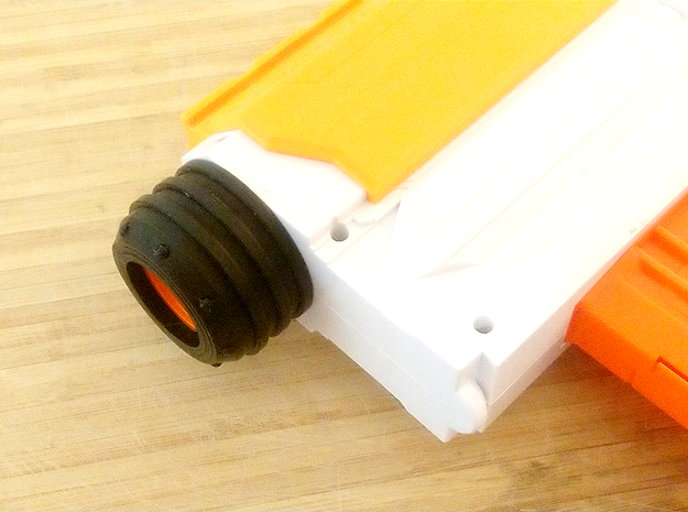 NovaTron Barrel Cover for Nerf N-Strike Modulus in Orange Processed Versatile Plastic