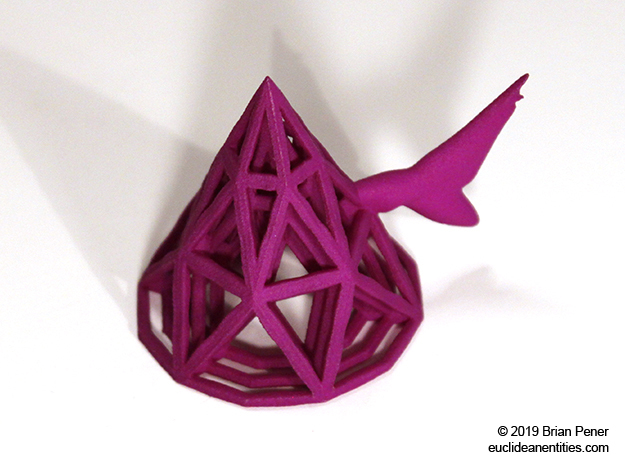 Cone-Shark in Purple Processed Versatile Plastic