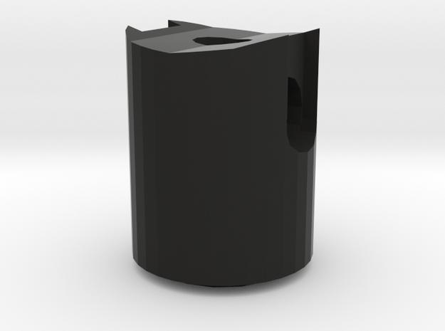 Darth Vader ROTJ Saber D-Ring holder front in Black Natural Versatile Plastic