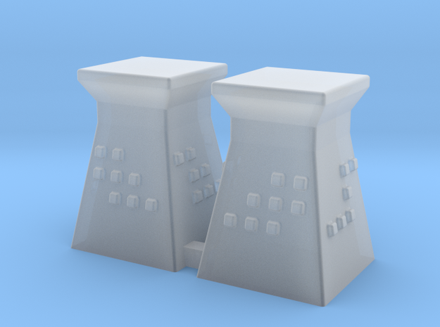 2mm / 3mm Scale Guard Tower (x2) in Smooth Fine Detail Plastic