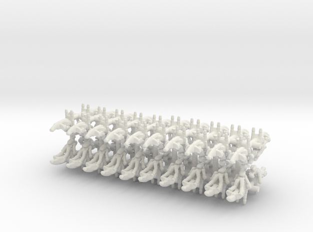 Confederate Speeders in White Natural Versatile Plastic