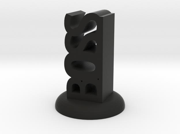 """""""BOSS"""" D&D Word Mini in Black Natural Versatile Plastic"""