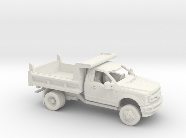 1/50 2017 Ford F-Series Reg Cab Dump Bed Kit in White Natural Versatile Plastic