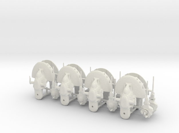 6mm AAT Tank Platoon in White Natural Versatile Plastic