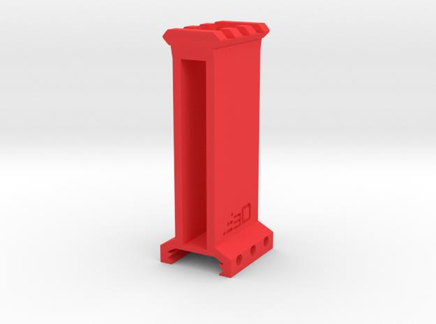 "3"" High 3 Slots Picatinny Riser in Red Processed Versatile Plastic"