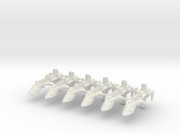 Destructor clase Cobra x6 in White Natural Versatile Plastic