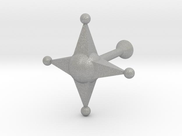 Star Cufflink in Aluminum