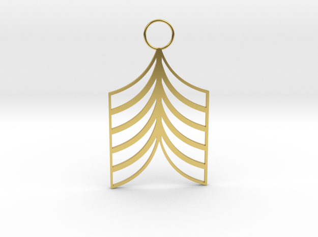Lined Earring in Polished Brass