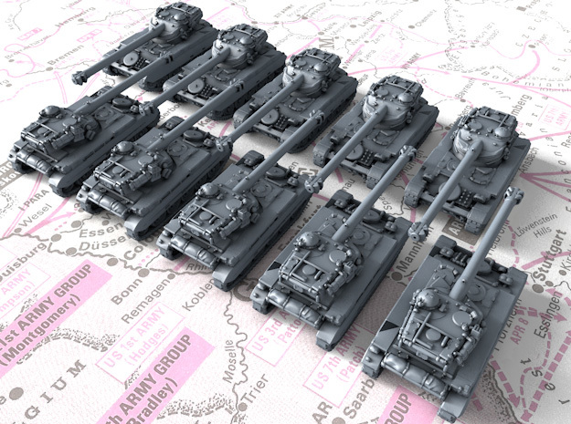 1/700 French AMX 13 105 Light Tank x10 in Smoothest Fine Detail Plastic