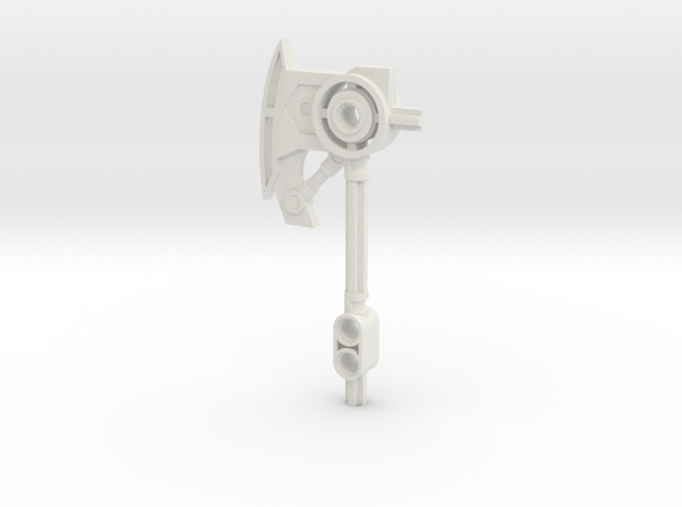 Tall Axe in White Natural Versatile Plastic
