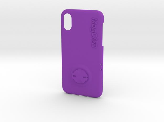 iPhone XS Garmin Mount Case in Purple Processed Versatile Plastic