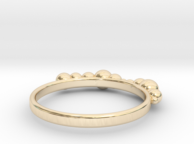 Balled Ring in 14K Yellow Gold