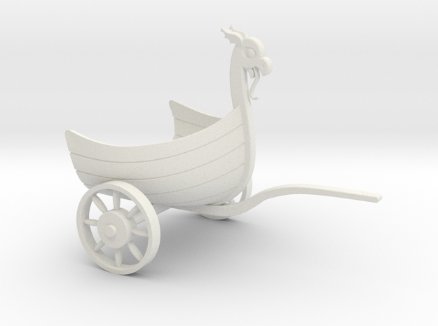 BoatChariotFull - 28mm in White Natural Versatile Plastic