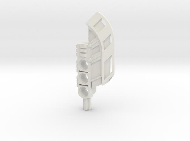 Single Cleaver in White Natural Versatile Plastic